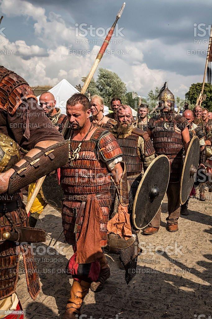 Vikings warriors stock photo