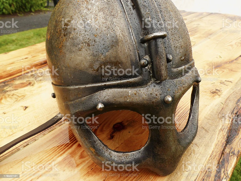 Viking/Saxon helmet royalty-free stock photo
