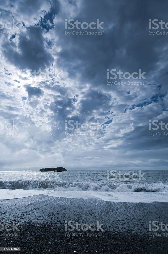 Vik's black sand beach royalty-free stock photo