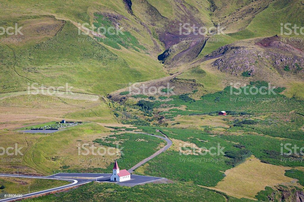 Vik´s church, Iceland stock photo
