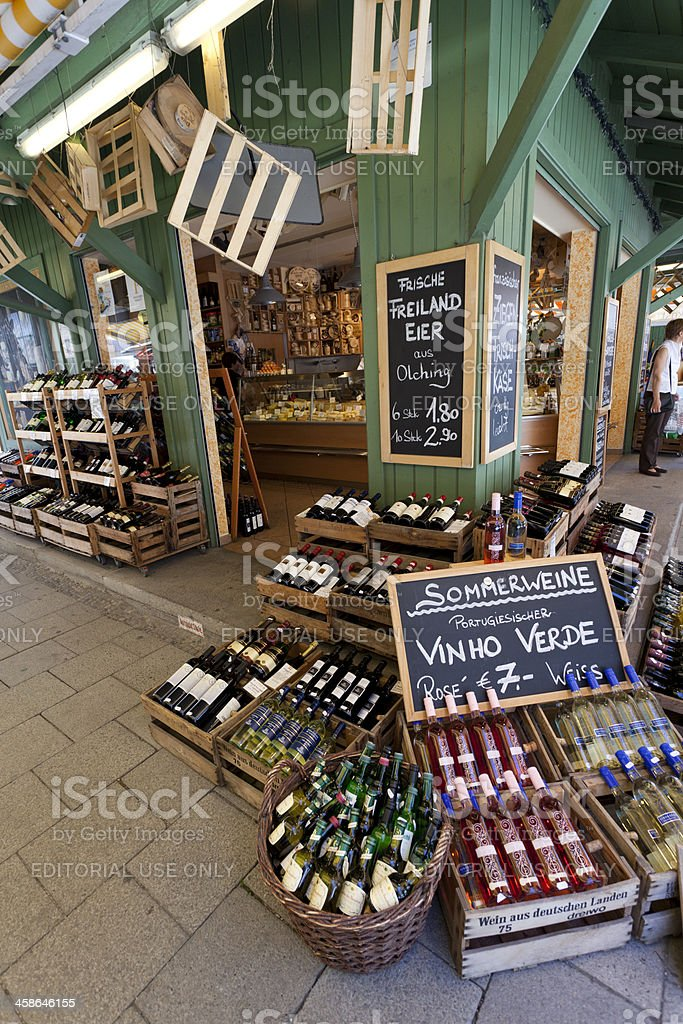 Viktualienmarkt in Munich, Germany stock photo