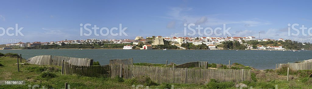 Vila Nova de Milfontes panorama royalty-free stock photo