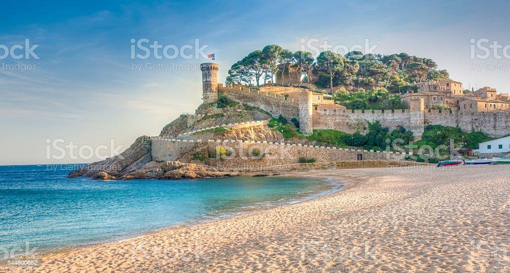 Vila Vella, Tossa de Mar, Costa Brava, Catalonia, Spain stock photo