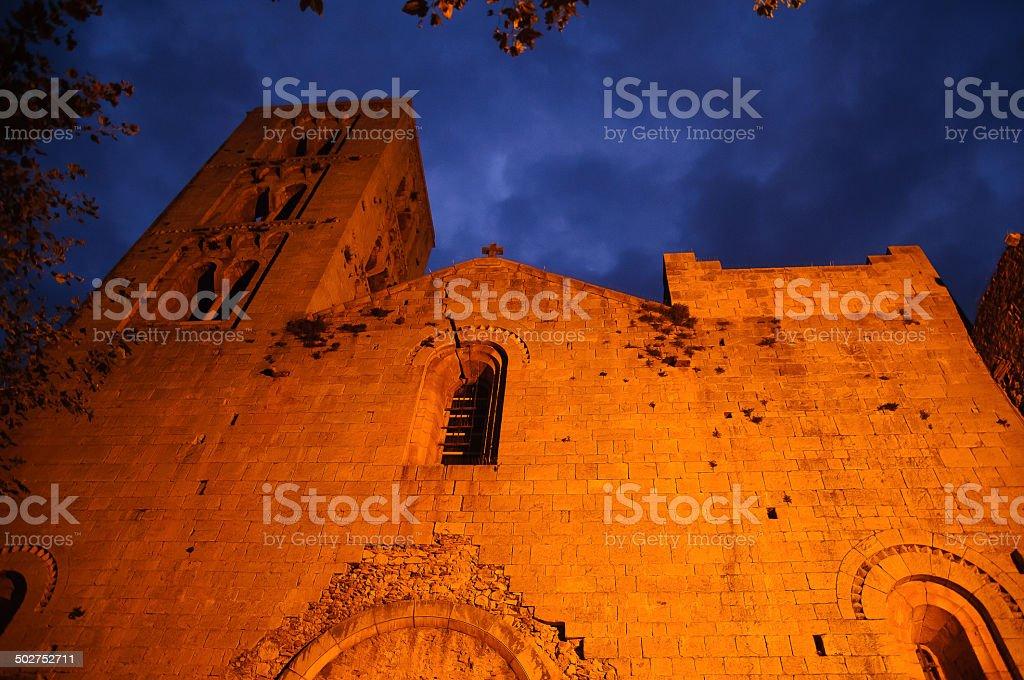 Vilabertran Monastery stock photo