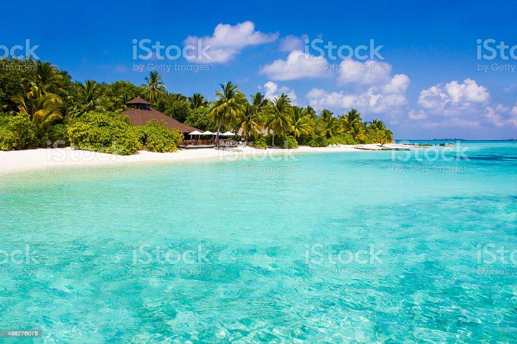 Vilamendhoo Atoll in the Maldives stock photo