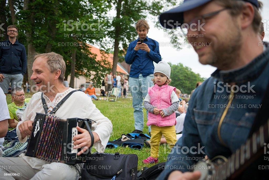 Viljandi Folk Music Festival in Estonia stock photo