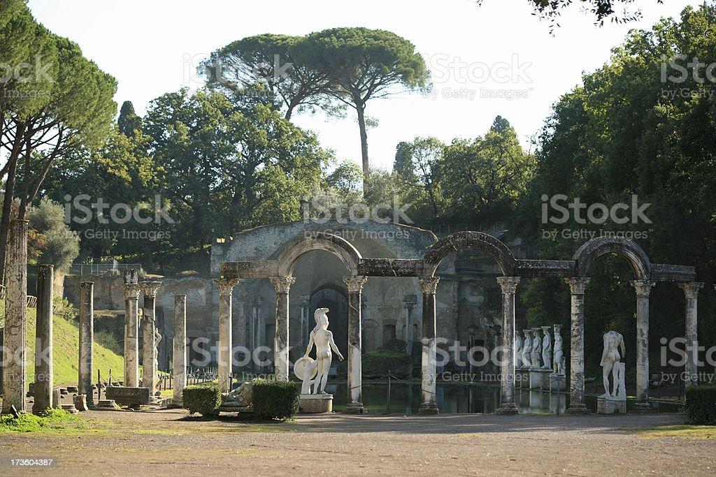Villa Adriana - Canopus Canal stock photo