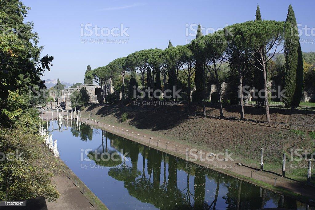 Villa Adriana royalty-free stock photo