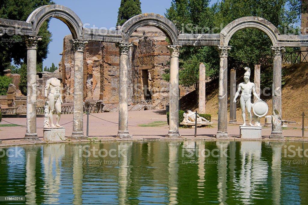 Villa Adriana stock photo