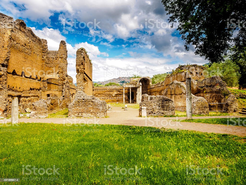 Villa Adriana stock photo