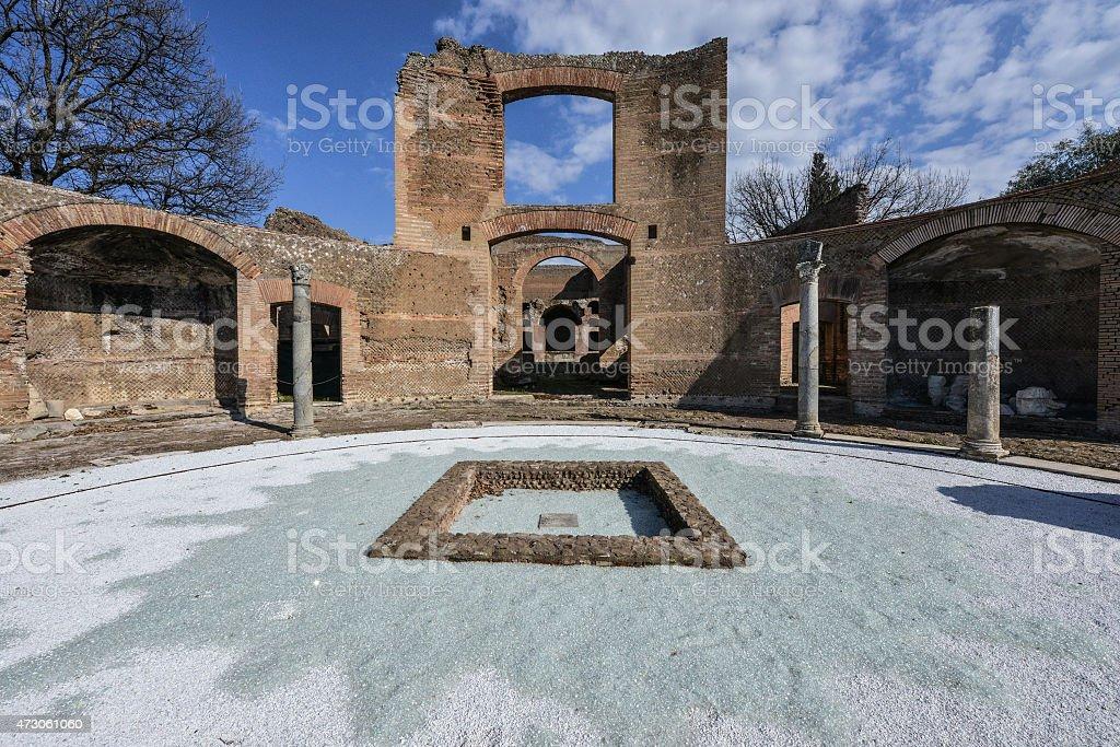Villa Adriana, Tivoli stock photo