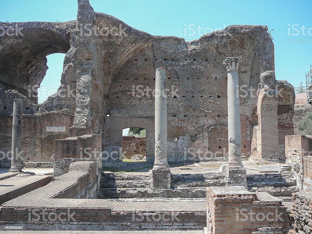 Villa Adriano ruins in Tivoli stock photo