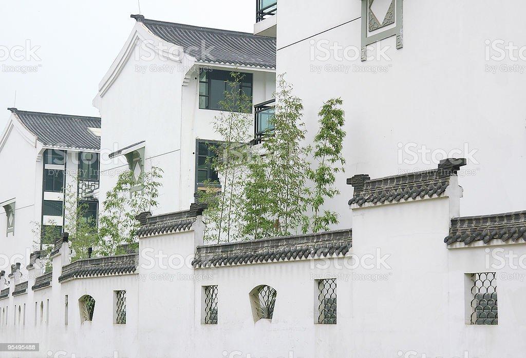 Villa And Wall royalty-free stock photo