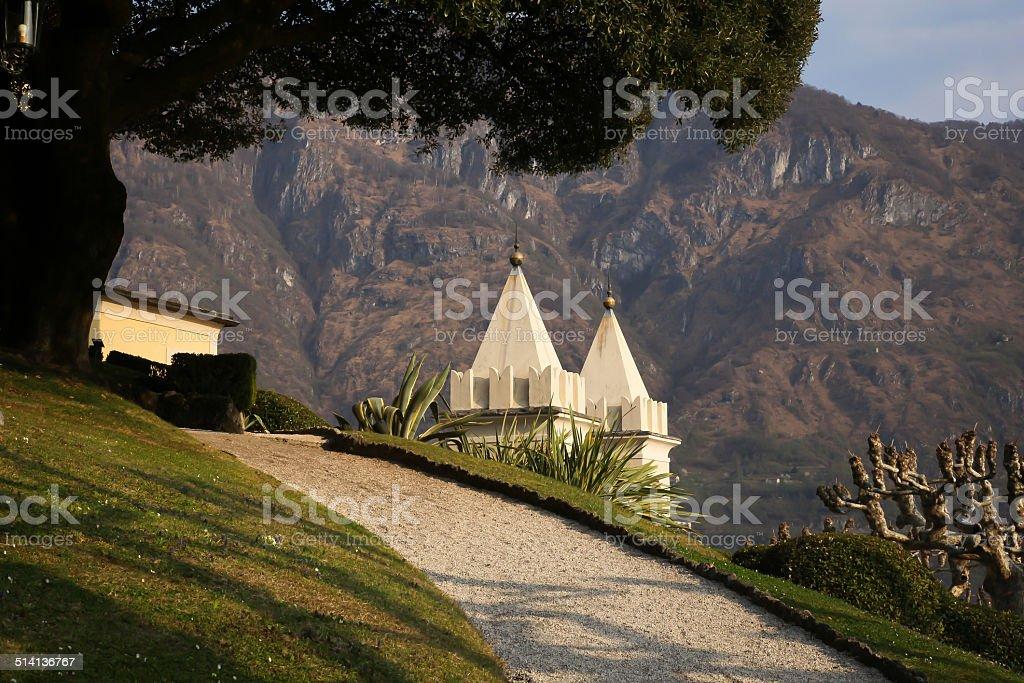 Villa Balbianello on Lake Como, Italy stock photo