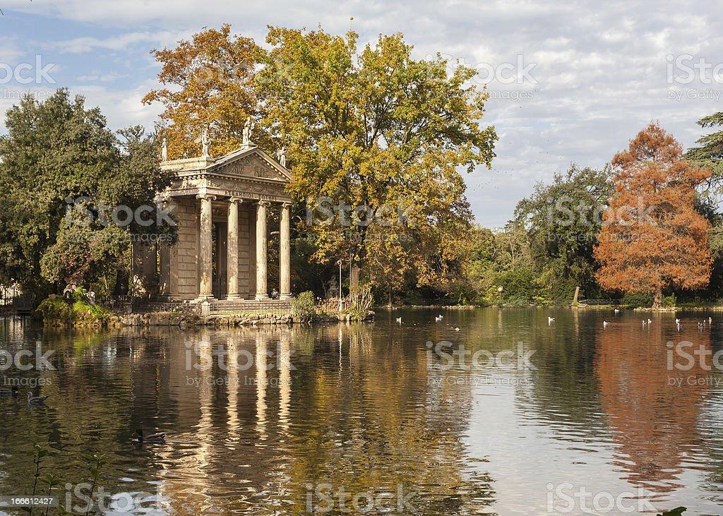 Villa Borghese Pinciana stock photo