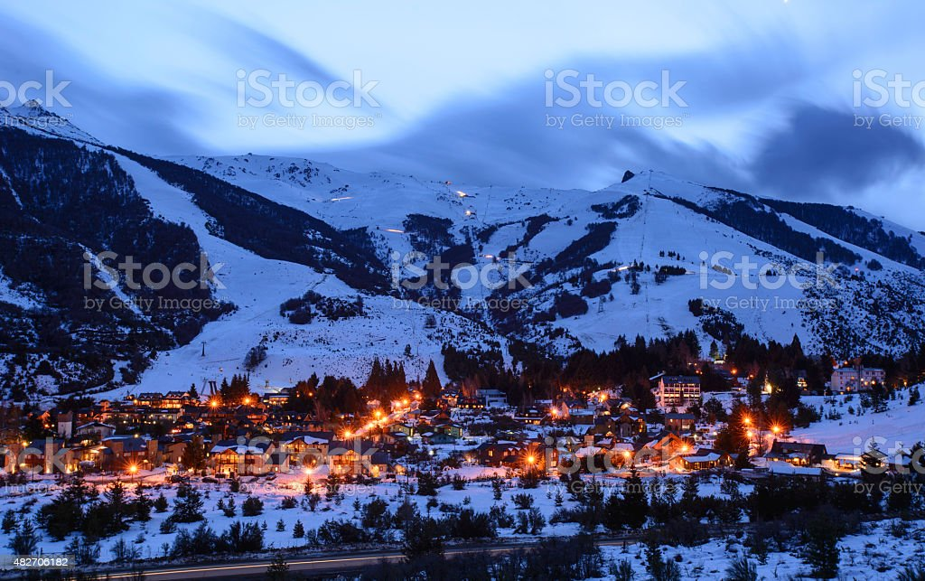 Villa Catedral Ski Resort stock photo