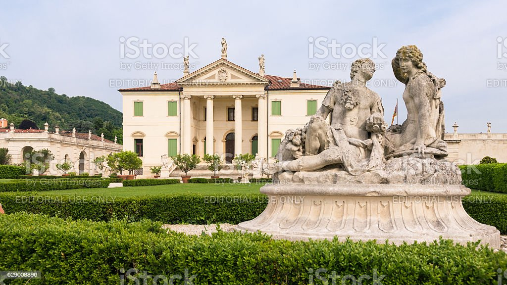 Villa Cordellina Lombardi, built in 18th century. stock photo