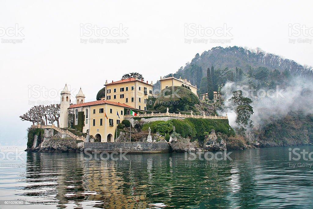 Villa del Balbianello at Lake Como, Como, Italy, Lombardia region stock photo