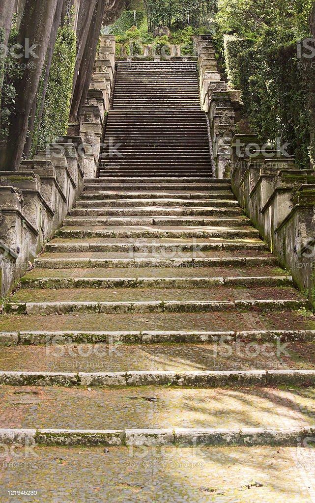 Villa d'Este gardens, Tivoli, Italy stock photo