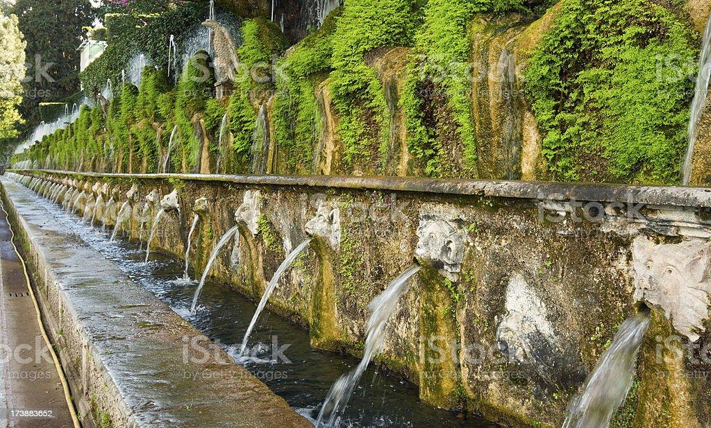 Villa d'Este gardens, Tivoli, Italy. royalty-free stock photo