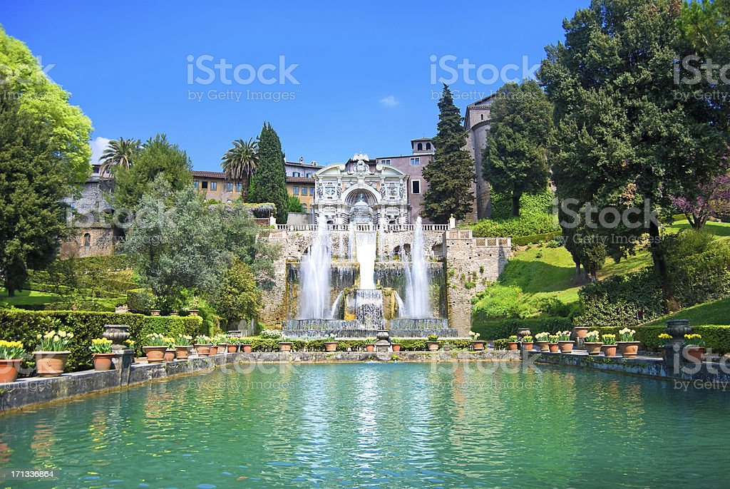 Villa d'Este, Tivoli, Italy stock photo