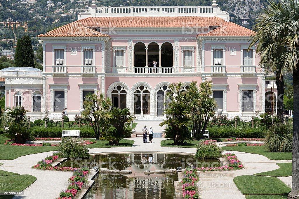 Villa Ephrussi de Rothschild at Cap-Ferrat, France stock photo