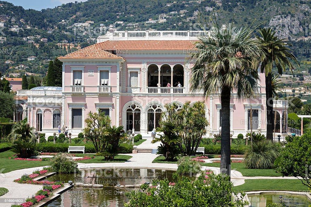 Villa Ephrussi de Rothschild at Cap-Ferrat stock photo
