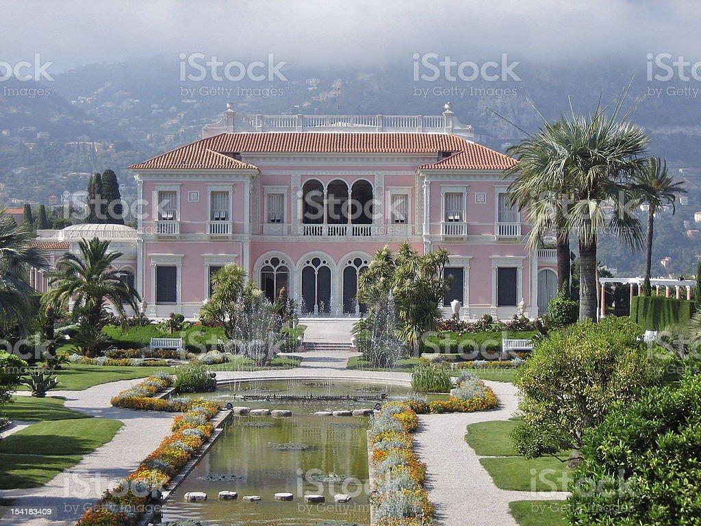 Villa Ephrussi de Rothschild, Cap Ferrat, France stock photo