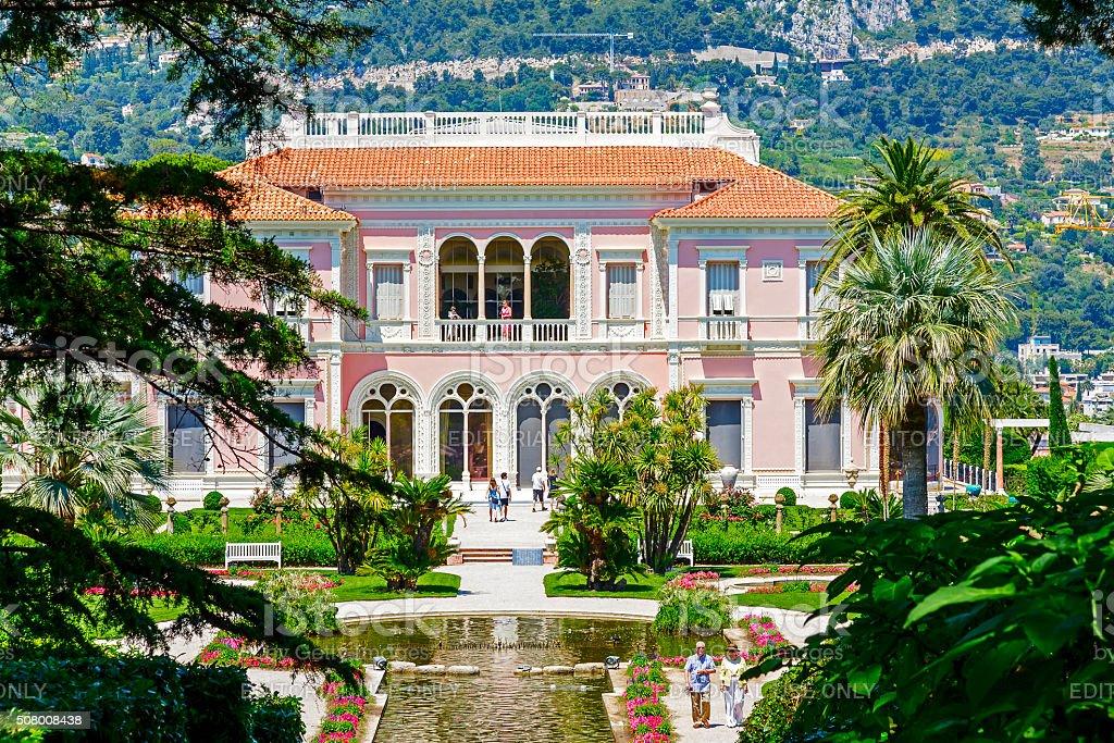 Villa Ephrussi de Rothschild stock photo