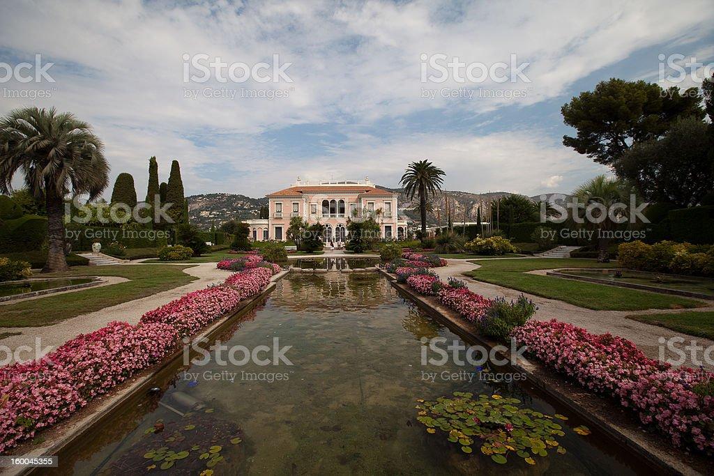Villa Ephrussi-de-Rothschild in Cap Ferrat stock photo