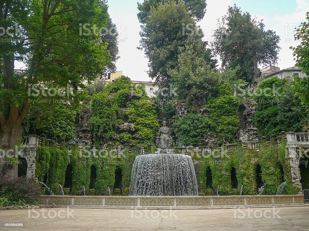 Villa Este gardens stock photo