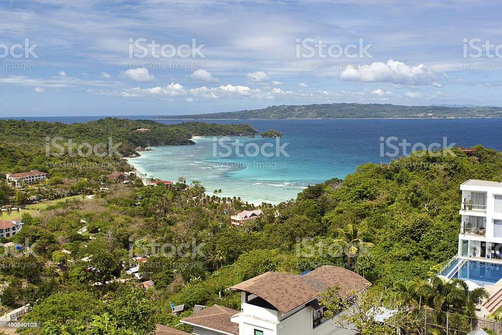 Villa from view point stock photo