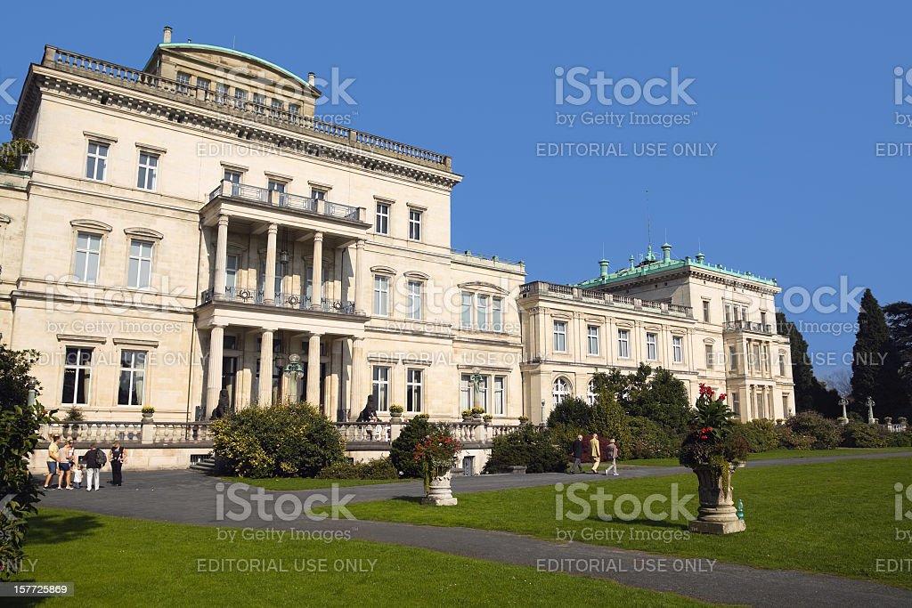 Villa Hügel in Essen stock photo