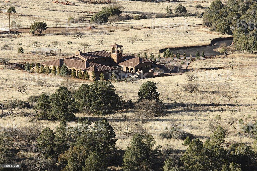 Villa Home Southwest Ranch Property royalty-free stock photo