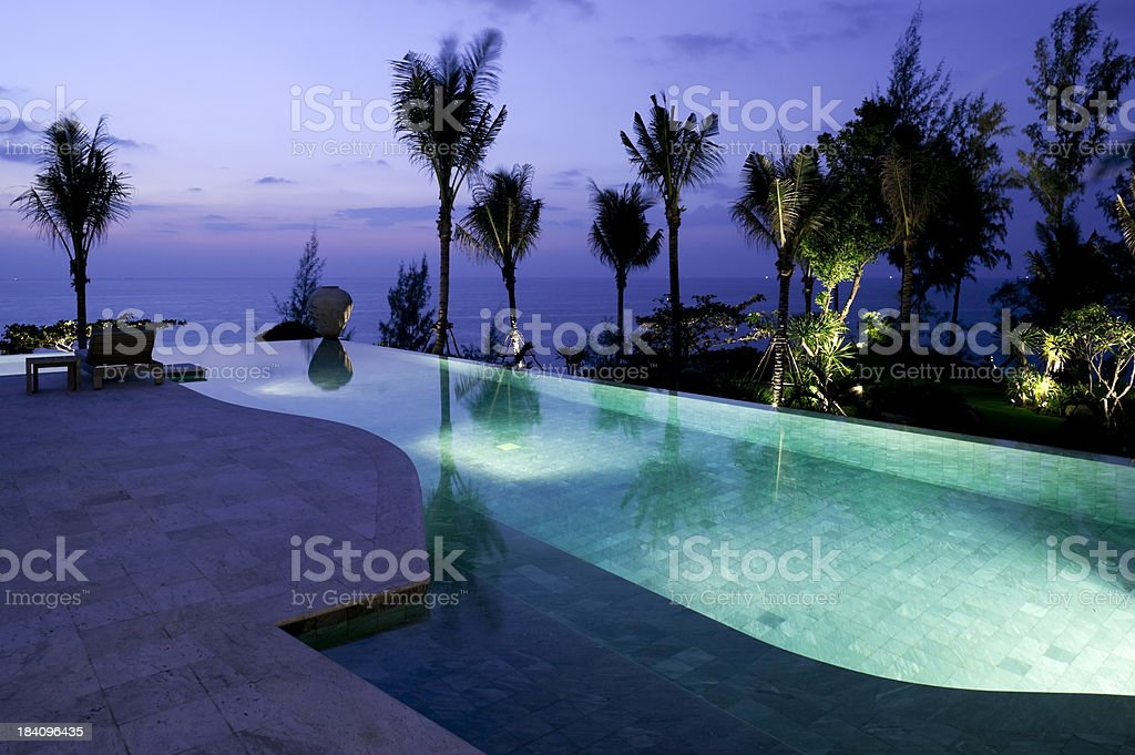 villa hotel swimming pool stock photo