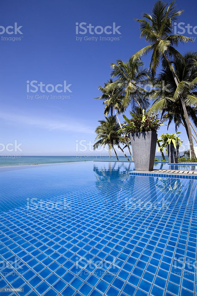 villa hotel swimming pool sri lanka royalty-free stock photo