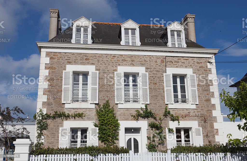 Villa in Saint-Malo stock photo