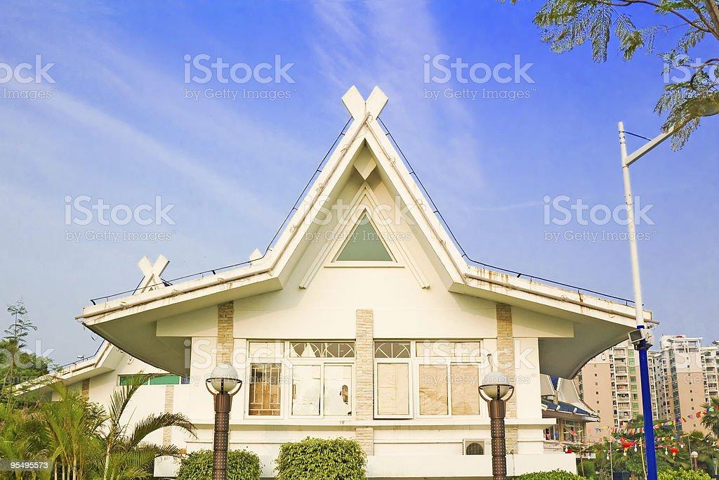 Villa in the sunshine royalty-free stock photo