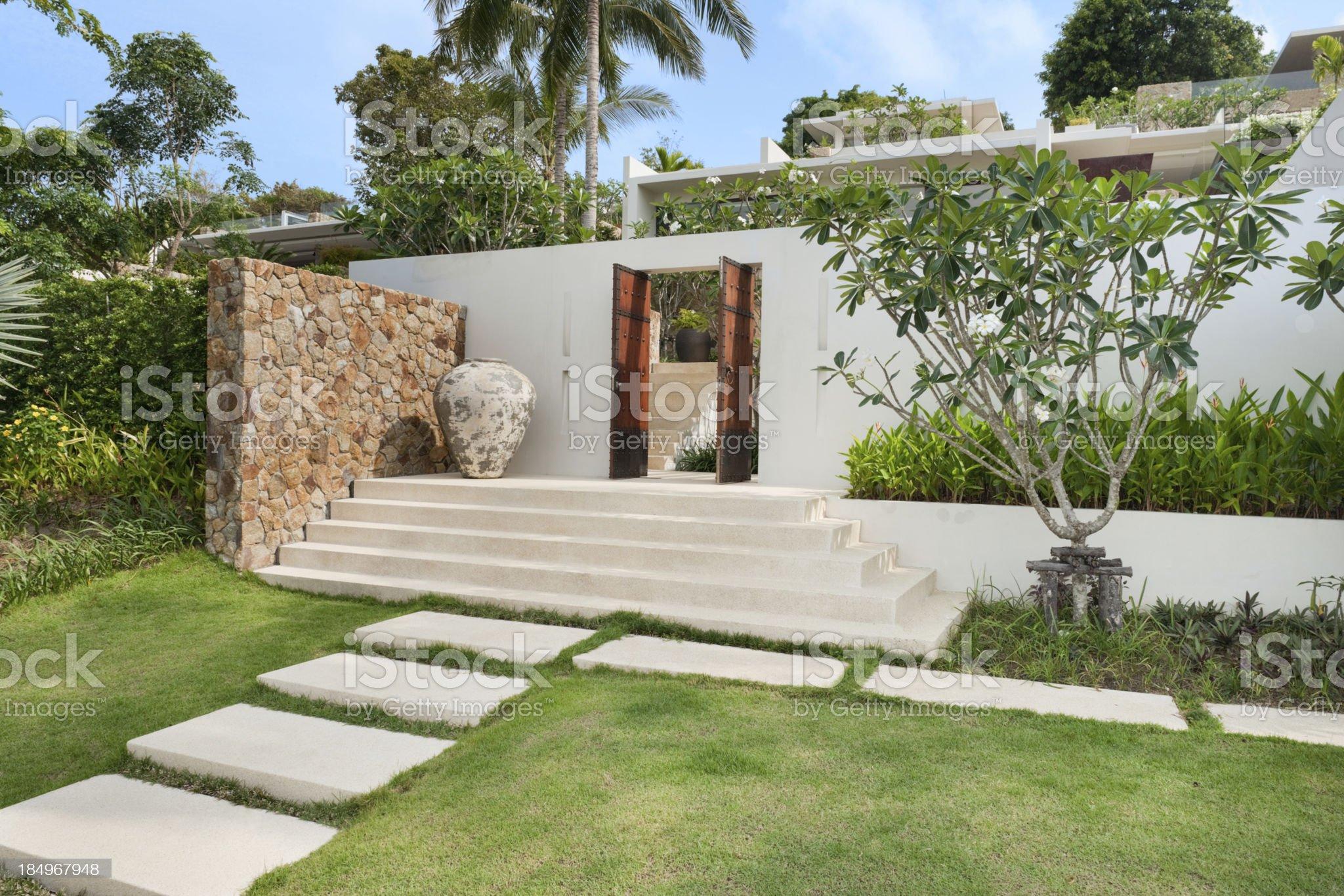 Villa In The Tropics royalty-free stock photo
