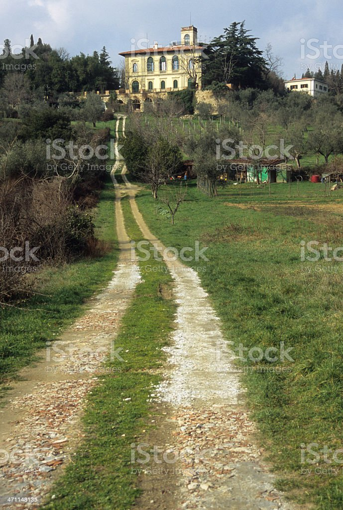 Villa in Tuscany royalty-free stock photo