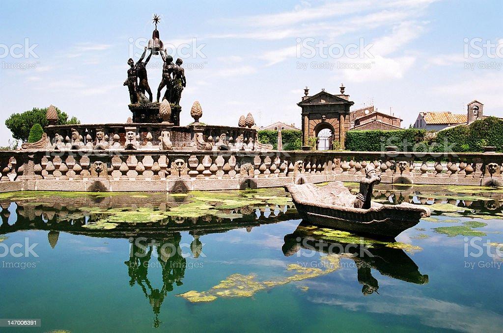Villa Lante at Bagnaia near Viterbo, Italy. stock photo