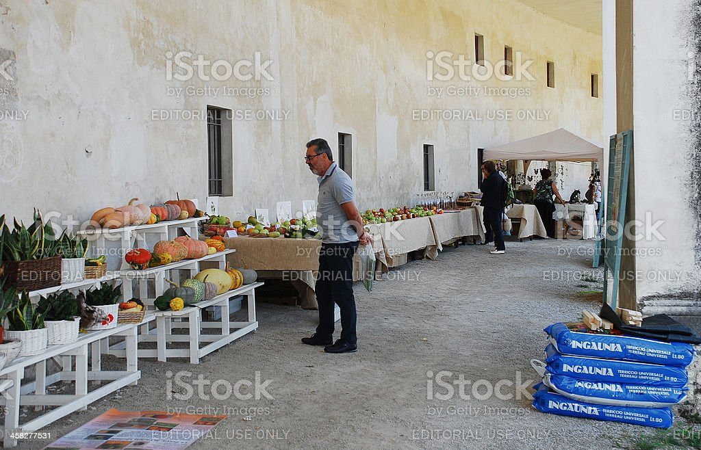 Villa Manin During Floreal Festival 2012 stock photo