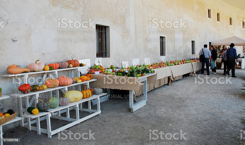 Villa Manin During Floreal Festival, 2012 stock photo