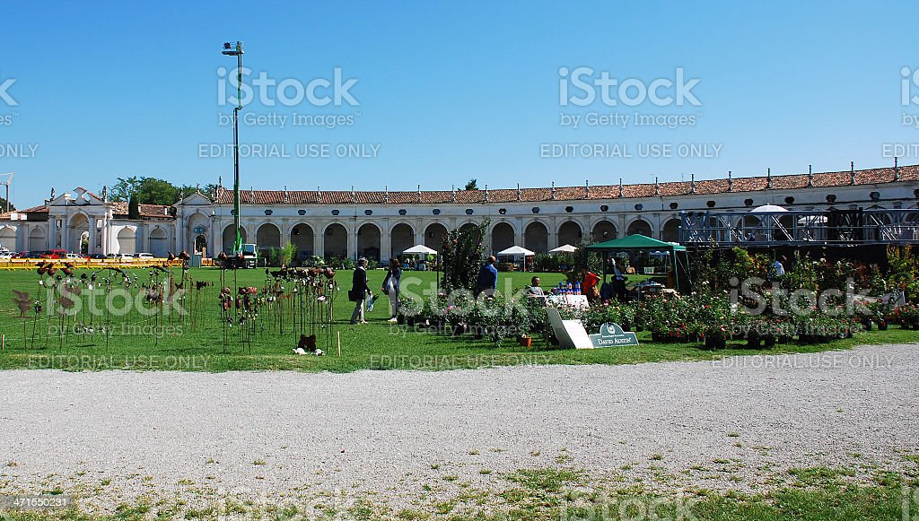 Villa Manin During Floreal stock photo