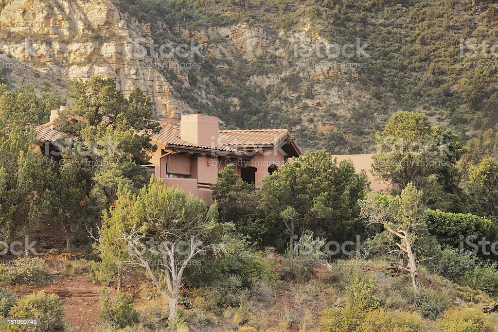 Villa Mansion Home Wilderness Landscape royalty-free stock photo