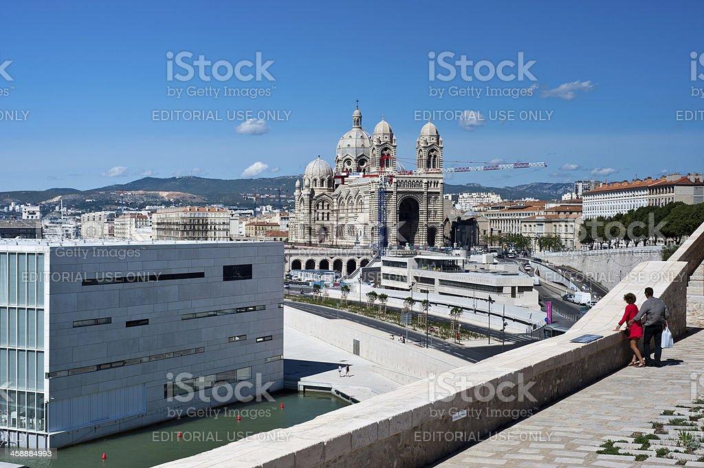 Villa Mediterranee in Marseille stock photo