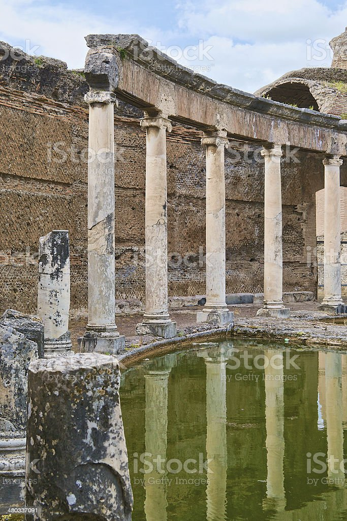 Villa di Adriano ruins in Tivoli stock photo