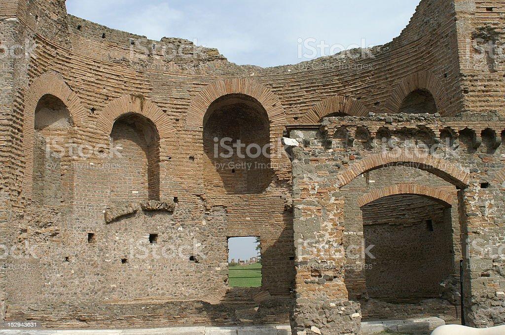 Villa of the Quintilii Nymphaeum stock photo