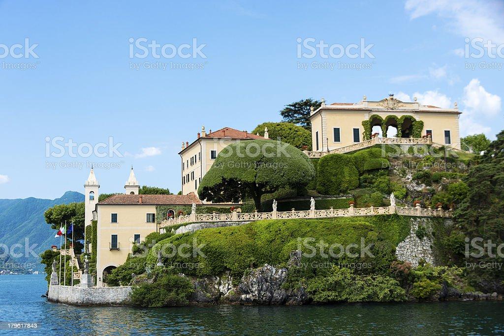 Villa on Lake Como, Italy -XXXL royalty-free stock photo