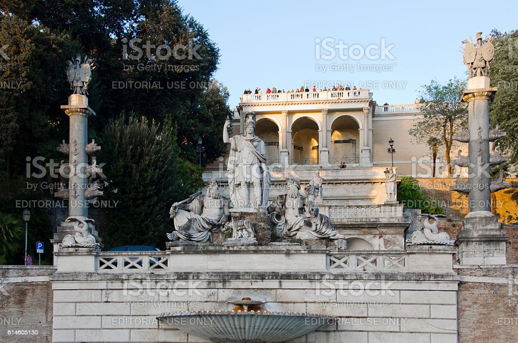 Villa on Pincian Hill Overlooking Piazza del Popolo in Rom stock photo